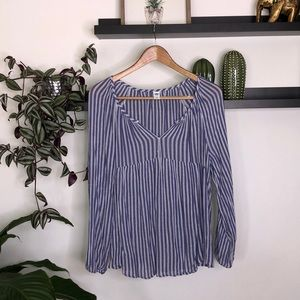 Old navy white/blue striped tunic size L